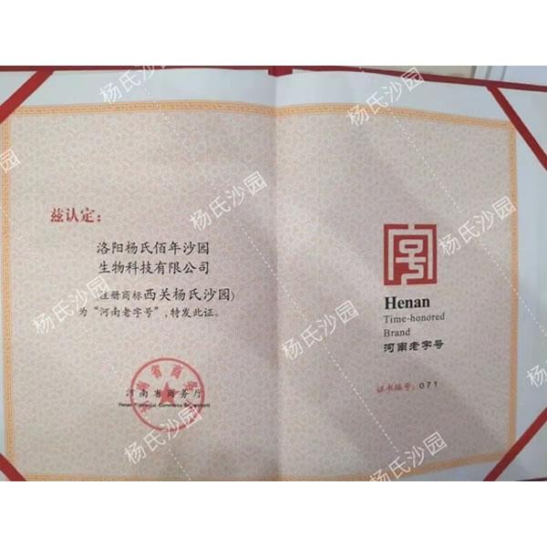 河南老字号证书 (1)